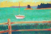 Split Rail Fence with Sailboat (sold)